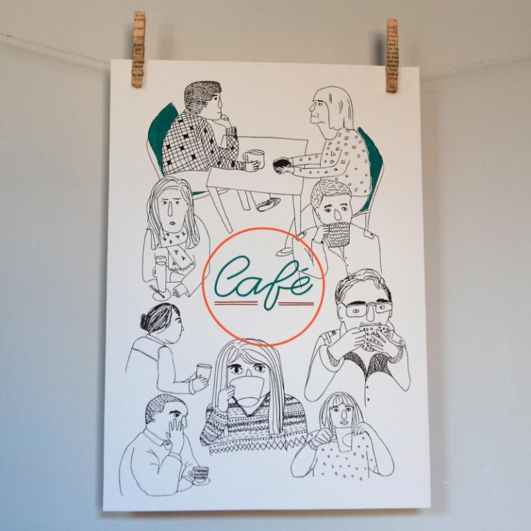 Art Print cafe katrine brosnan