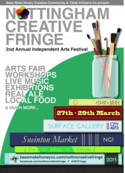 Nottingham Creative Fringe 2015 poster