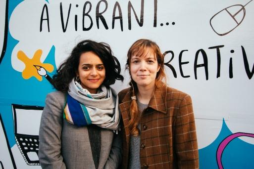 Laura (left) & Kirsty Nottingham Creative Fringe organisers
