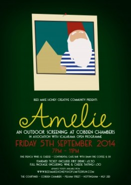 Amelie outdoor screening at Cobden Chambers