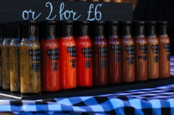 Sauce Shop at the Fringe Arts Fair - Photo by Zac Pickin