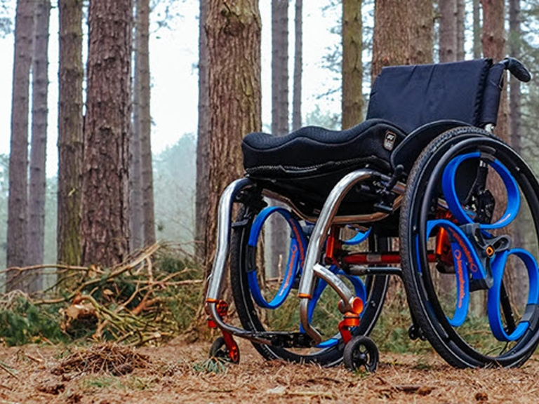 Loopwheels, a recent crowdfunding success for Nottingham. 'Wheelchair wheels with integral suspension, helping you lead an active life more comfortably and with less effort.'